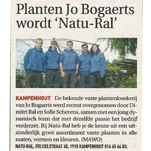 Planten Jo Bogaerts wordt Natu-ral (streekkrant 27/05/2020)