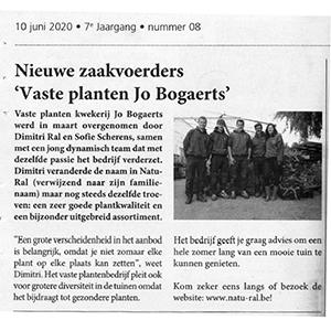 Nieuwe zaakvoerders 'Vaste Planten Jo Bogaerts' (Handel en Techniek - 10/06/2020)