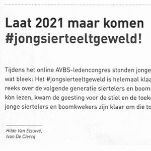 Jong sierteeltgeweld (vakblad AVBS - 31/12/2020)